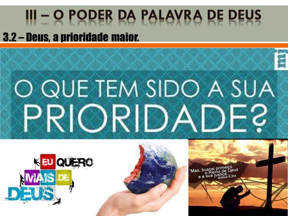 III – O PODER DA PALAVRA DE DEUS