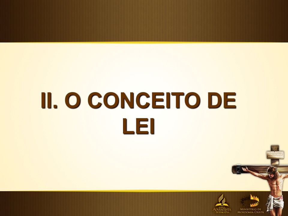 II. O CONCEITO DE LEI
