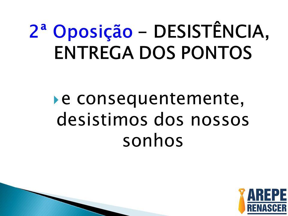 2ª Oposição - DESISTÊNCIA, ENTREGA DOS PONTOS