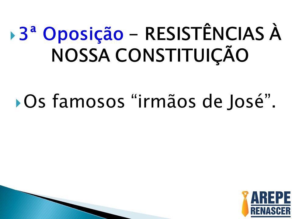 3ª Oposição - RESISTÊNCIAS À NOSSA CONSTITUIÇÃO