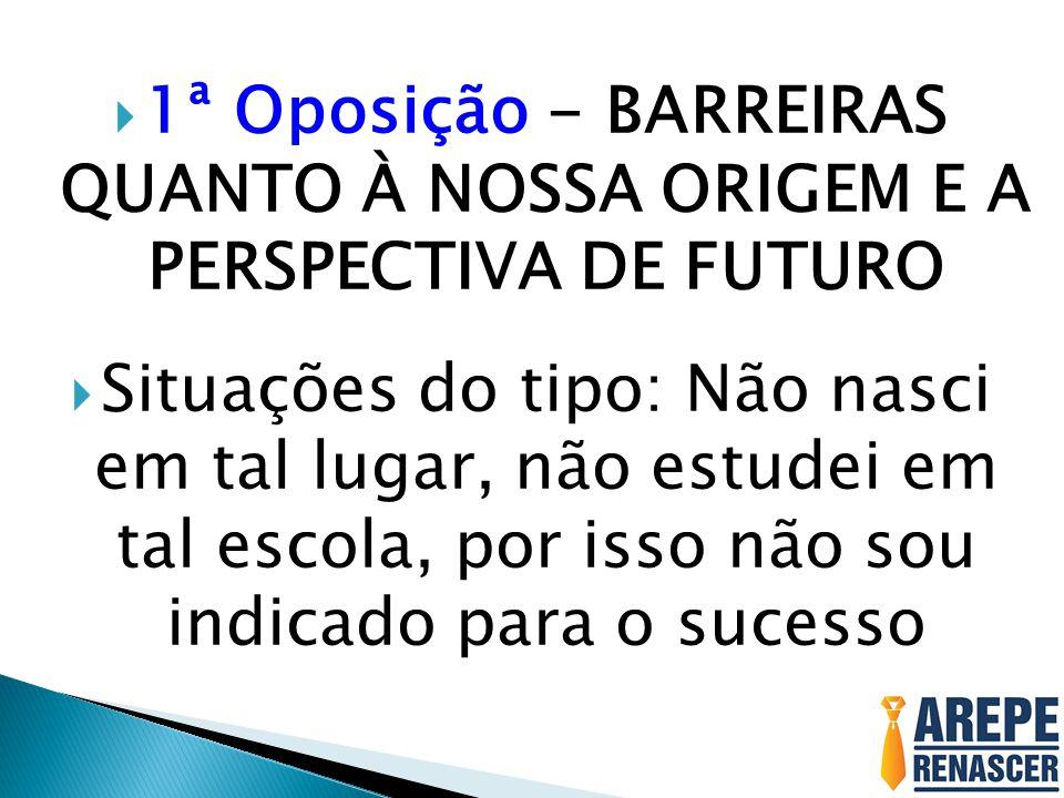 1ª Oposição - BARREIRAS QUANTO À NOSSA ORIGEM E A PERSPECTIVA DE FUTURO