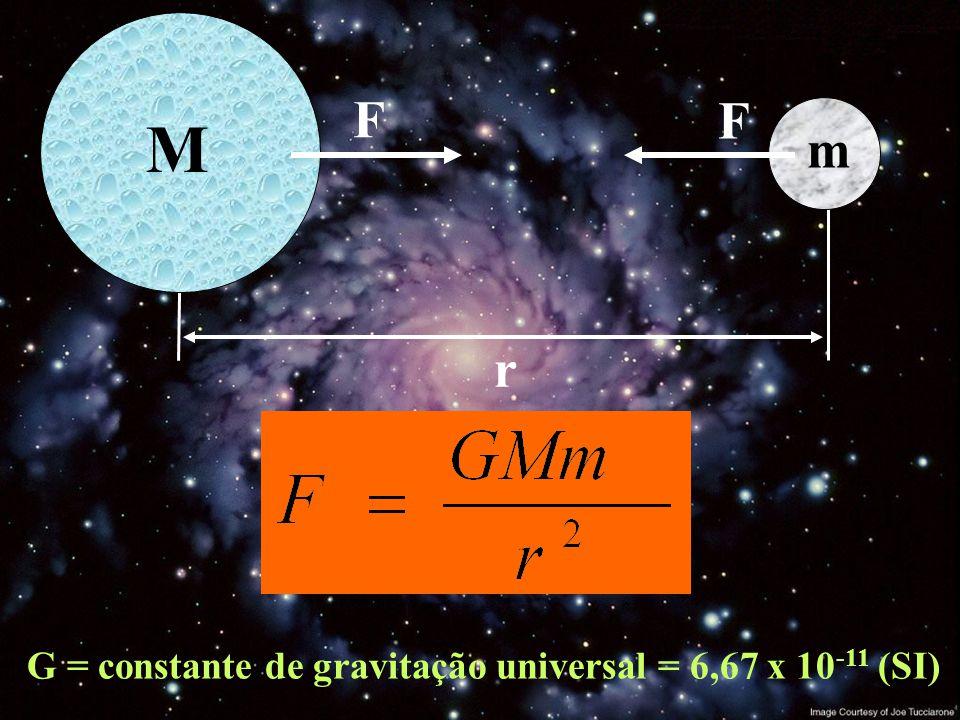 G = constante de gravitação universal = 6,67 x 10-11 (SI)
