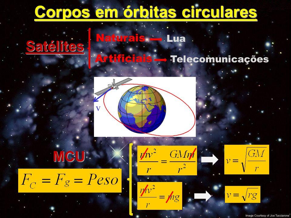 Corpos em órbitas circulares