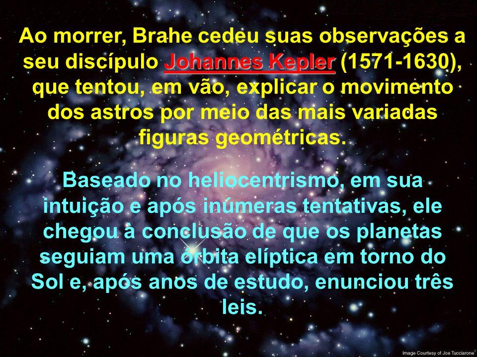 Ao morrer, Brahe cedeu suas observações a seu discípulo Johannes Kepler (1571-1630), que tentou, em vão, explicar o movimento dos astros por meio das mais variadas figuras geométricas.