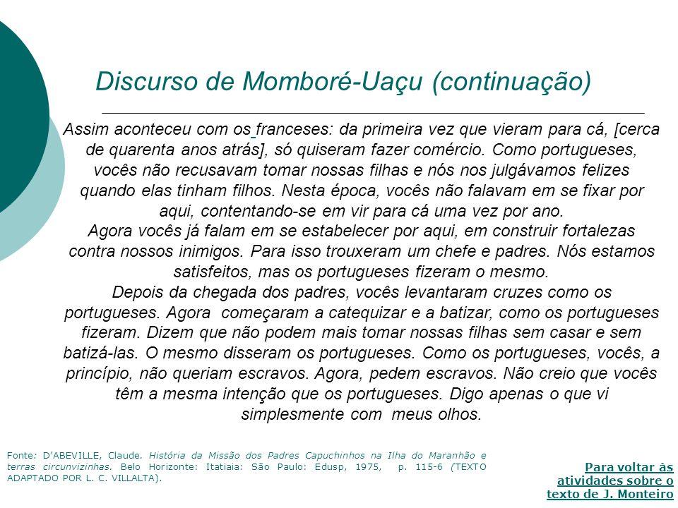 Discurso de Momboré-Uaçu (continuação)