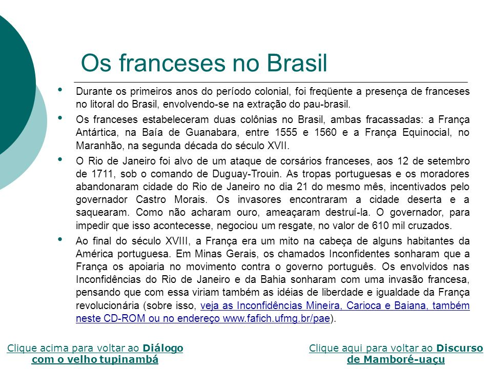 Os franceses no Brasil