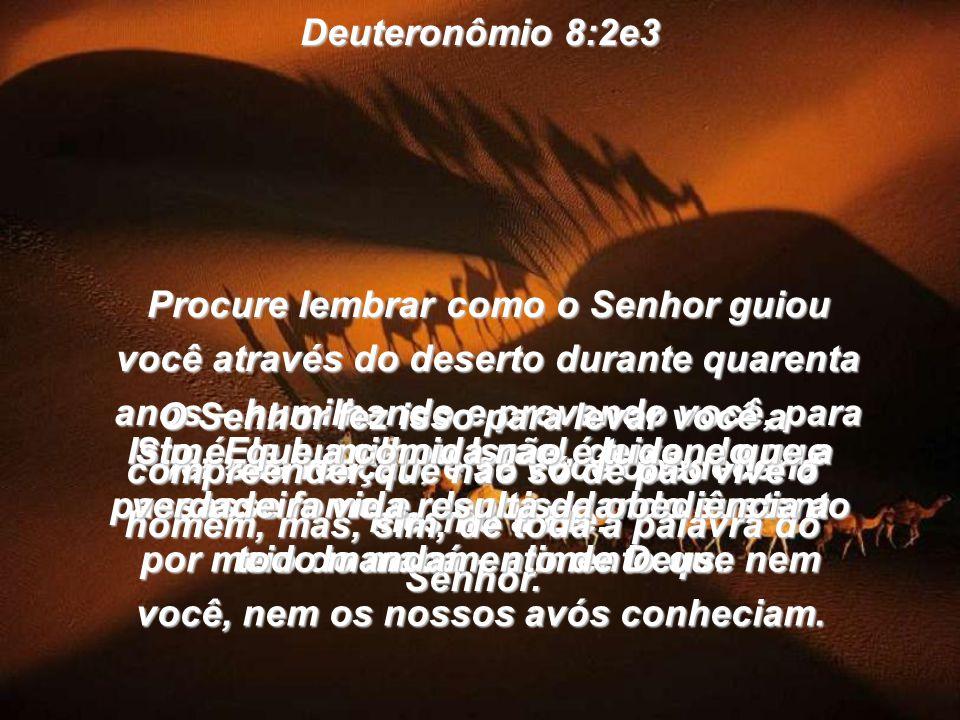 Deuteronômio 8:2e3