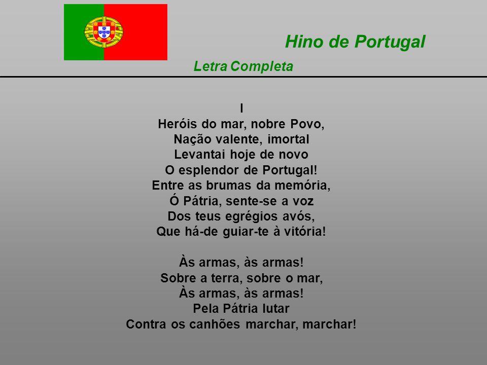 Hino de Portugal Letra Completa