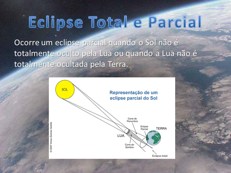 Eclipse Total e Parcial