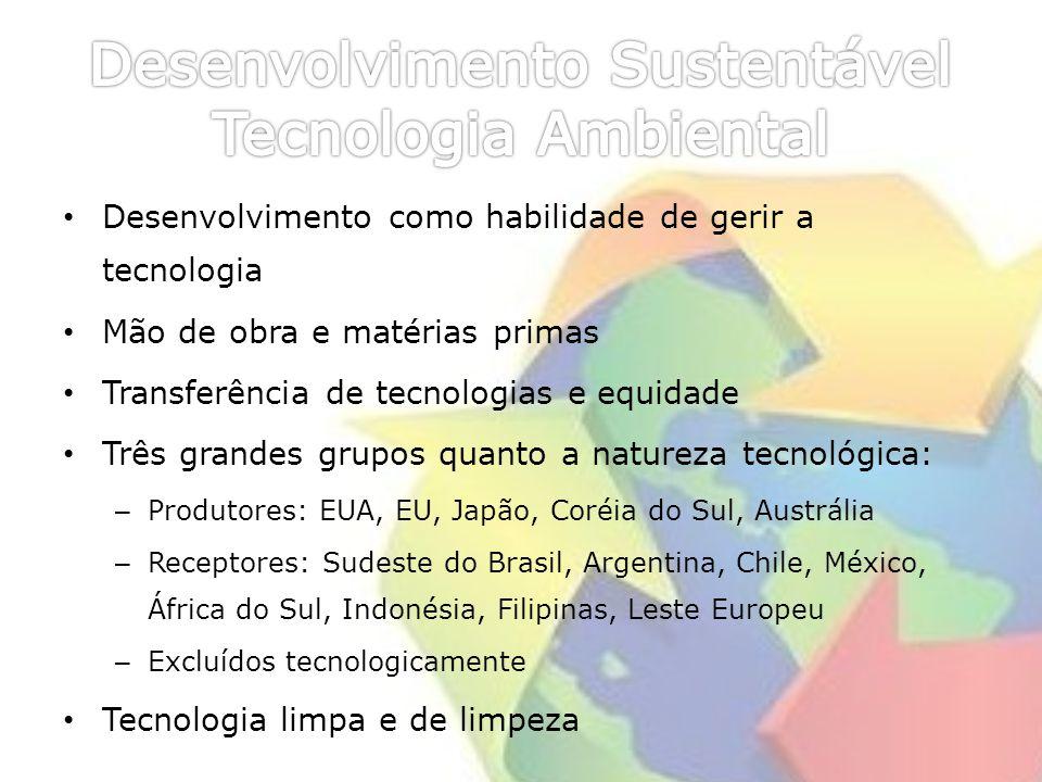 Desenvolvimento Sustentável Tecnologia Ambiental