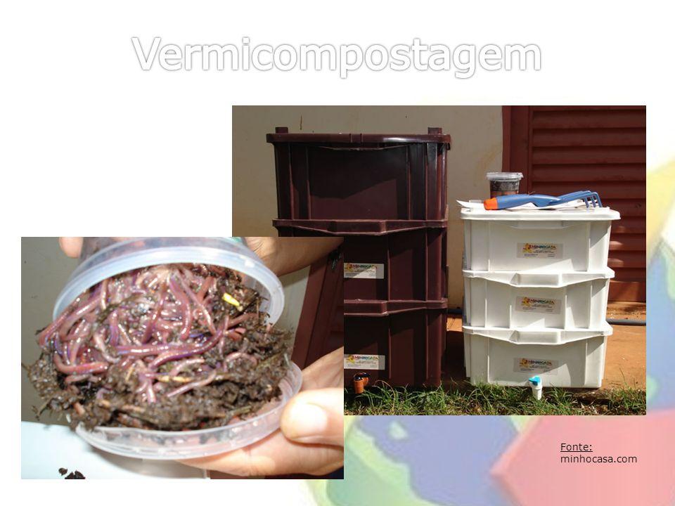 Vermicompostagem Fonte: minhocasa.com