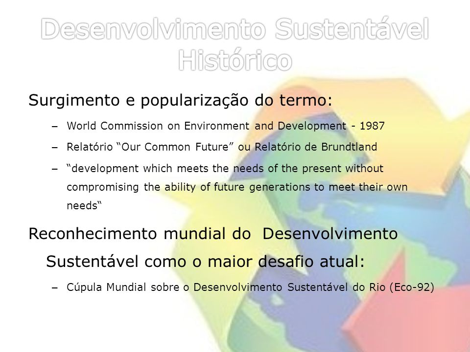 Desenvolvimento Sustentável Histórico