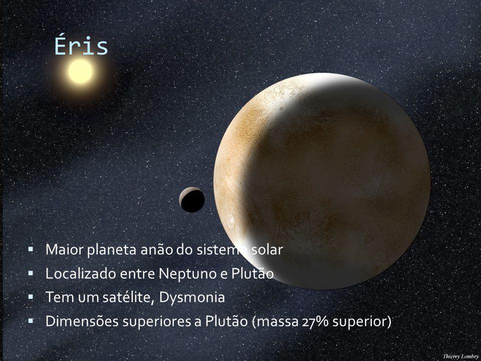 Éris Maior planeta anão do sistema solar