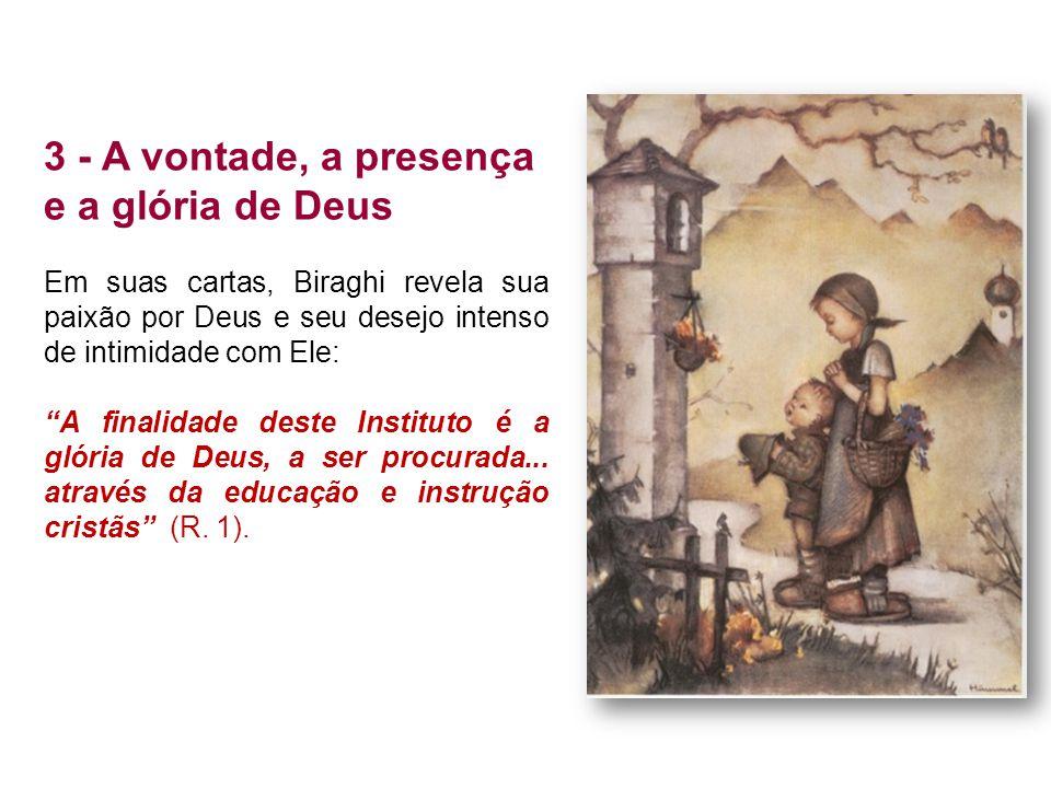 3 - A vontade, a presença e a glória de Deus