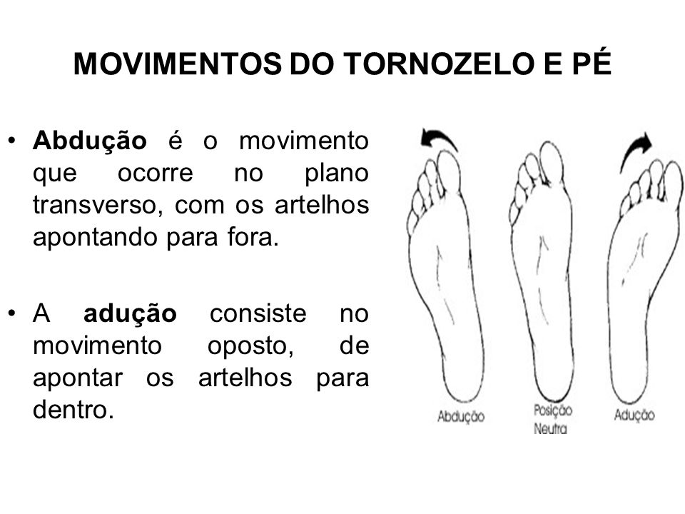 MOVIMENTOS DO TORNOZELO E PÉ
