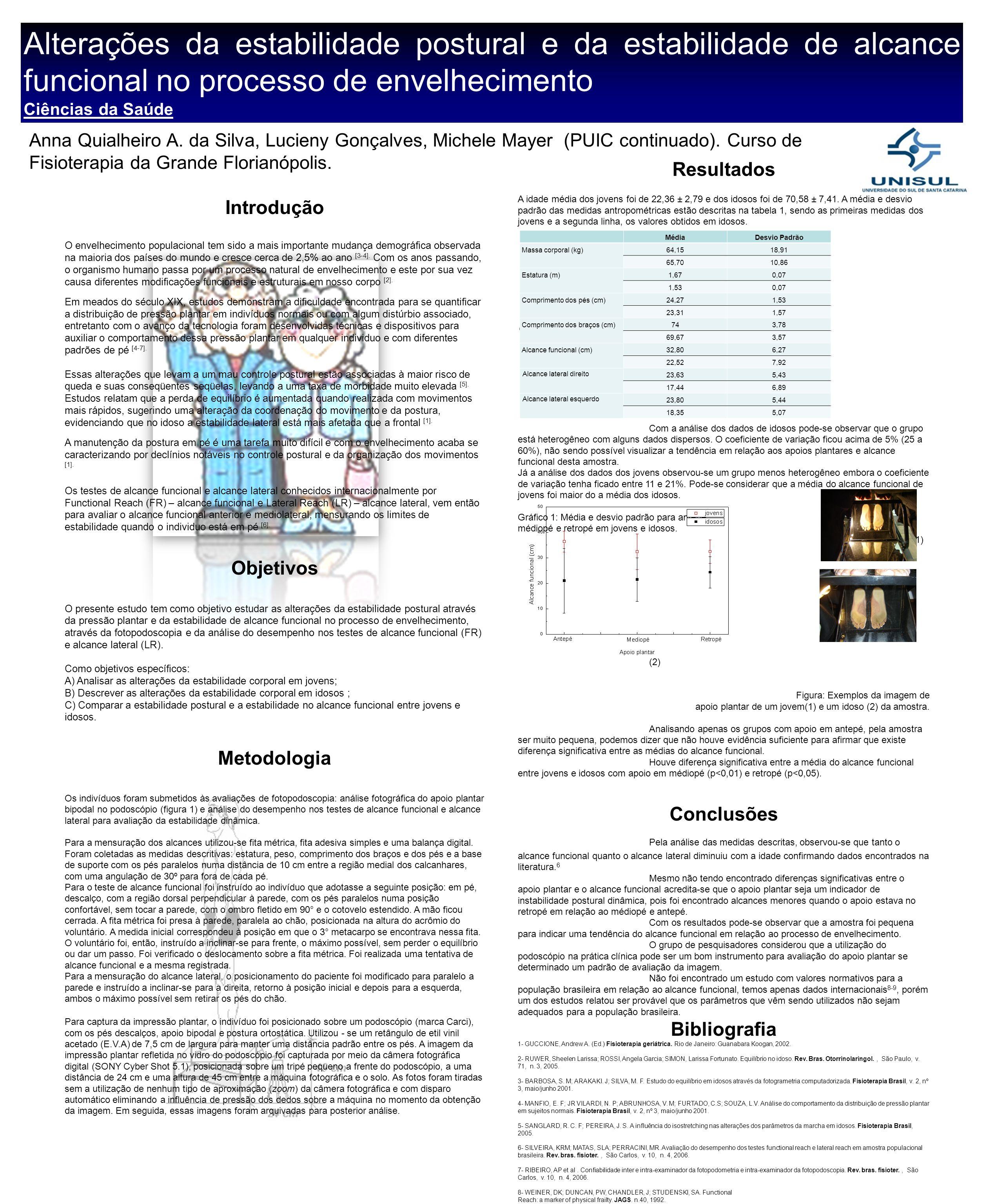 Alterações da estabilidade postural e da estabilidade de alcance funcional no processo de envelhecimento