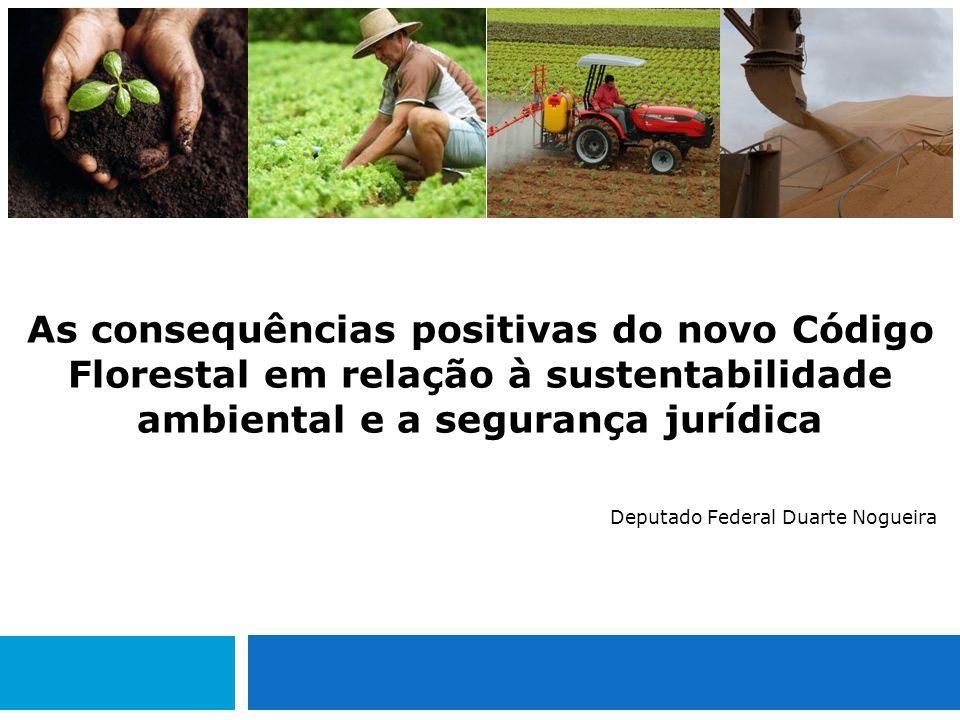 As consequências positivas do novo Código Florestal em relação à sustentabilidade ambiental e a segurança jurídica