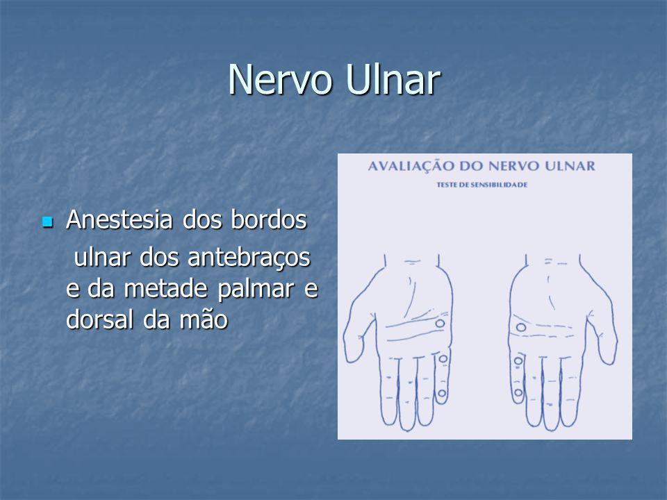 Nervo Ulnar Anestesia dos bordos