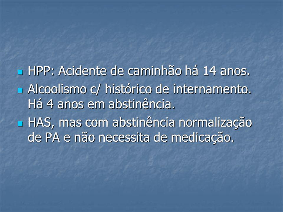 HPP: Acidente de caminhão há 14 anos.