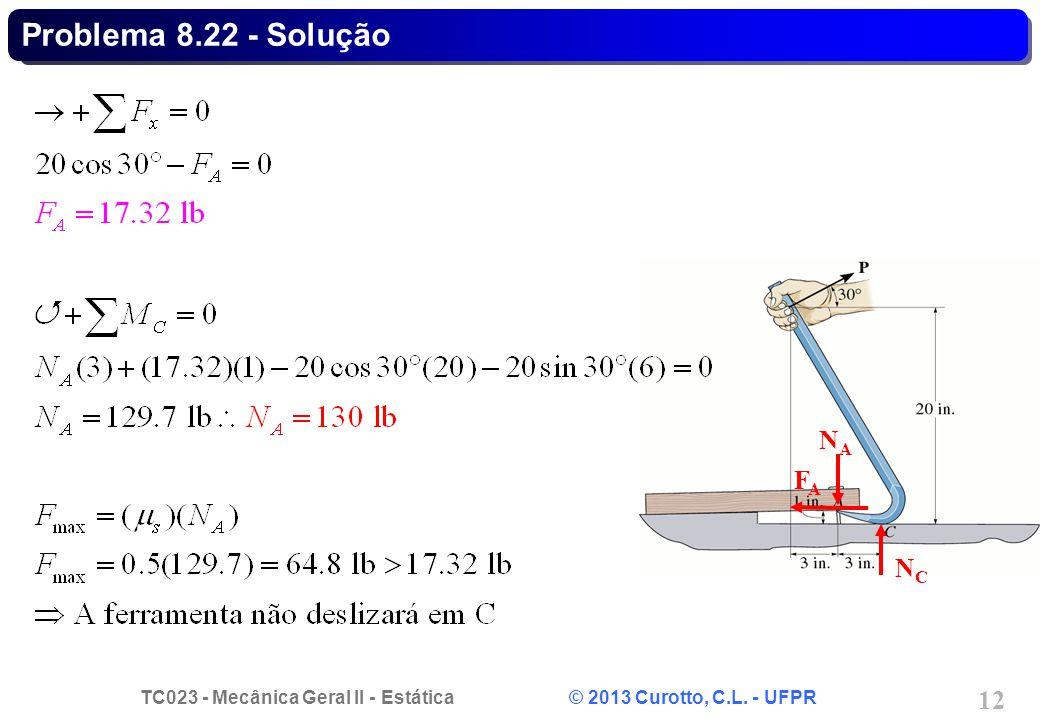 Problema 8.22 - Solução NA FA NC