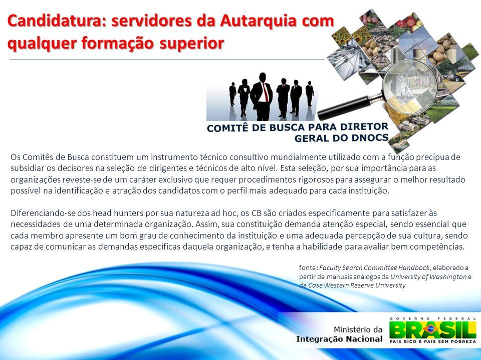 Candidatura: servidores da Autarquia com qualquer formação superior