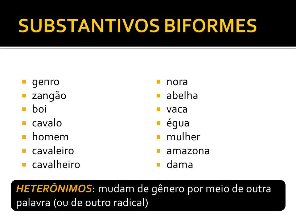 SUBSTANTIVOS BIFORMES