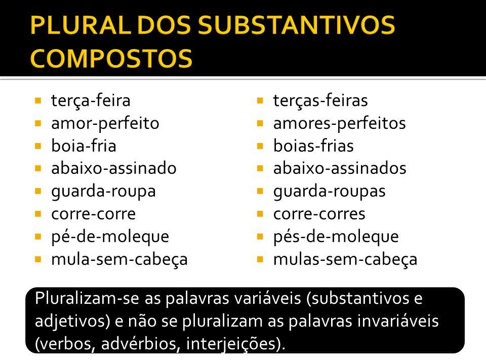 PLURAL DOS SUBSTANTIVOS COMPOSTOS