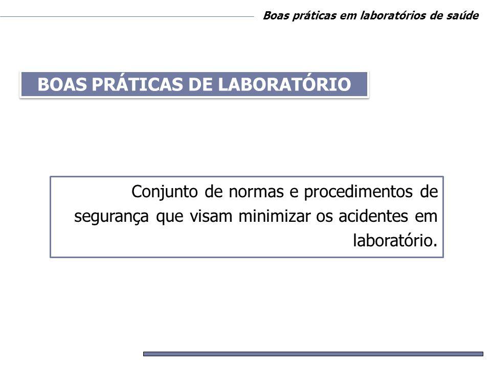 BOAS PRÁTICAS DE LABORATÓRIO