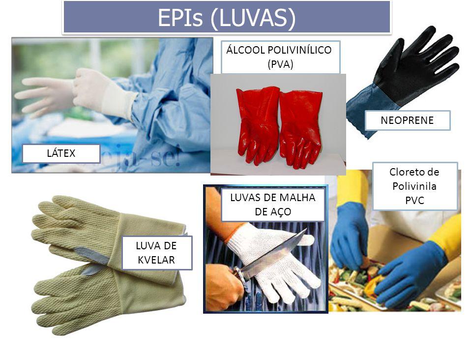 EPIs (LUVAS) ÁLCOOL POLIVINÍLICO (PVA) NEOPRENE LÁTEX