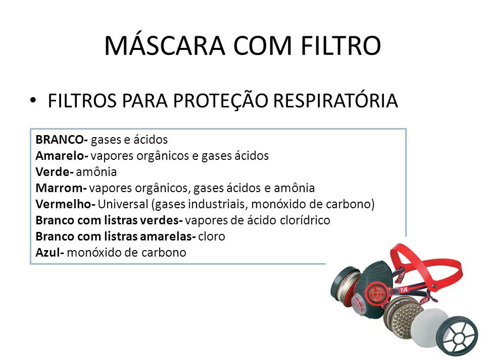 MÁSCARA COM FILTRO FILTROS PARA PROTEÇÃO RESPIRATÓRIA