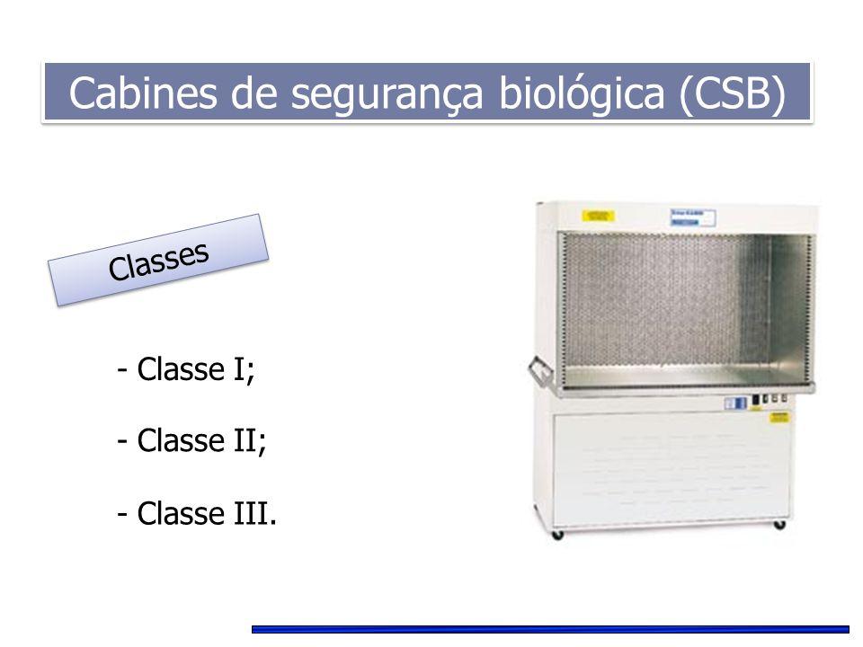 Cabines de segurança biológica (CSB)
