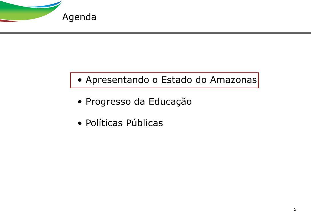 Agenda Apresentando o Estado do Amazonas Progresso da Educação Políticas Públicas