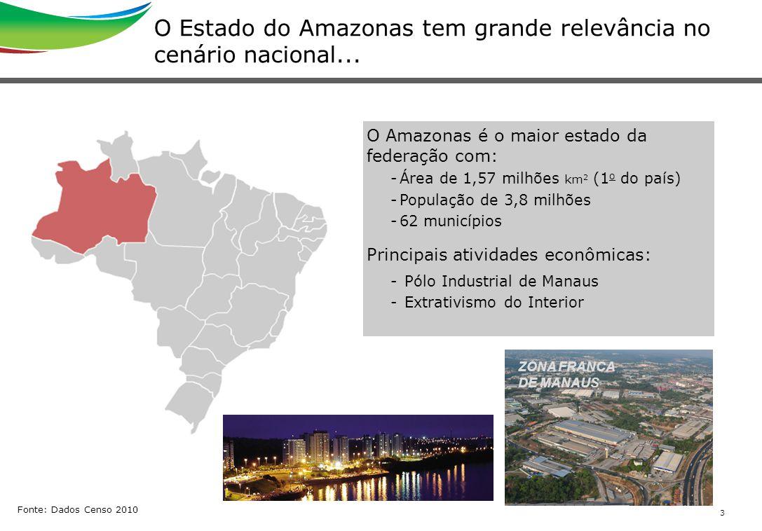 O Estado do Amazonas tem grande relevância no cenário nacional...