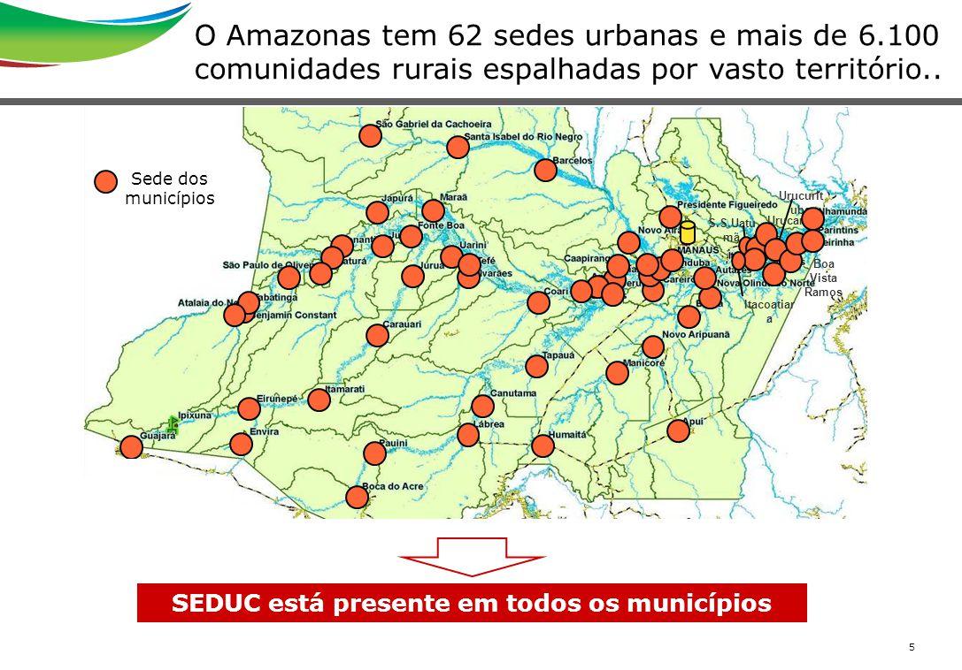 SEDUC está presente em todos os municípios