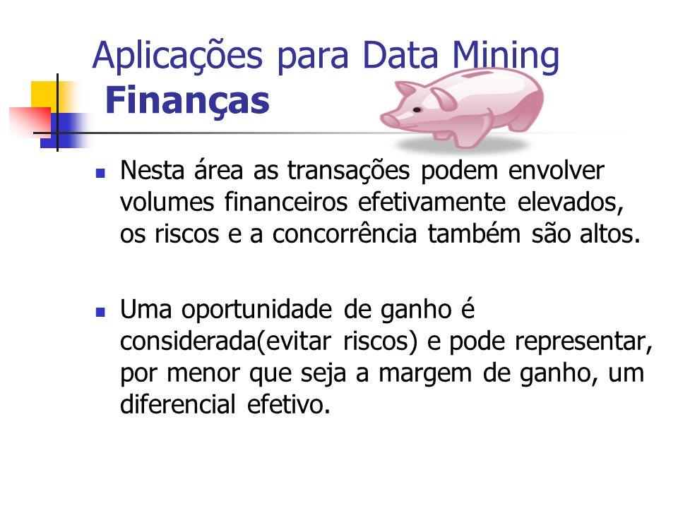Aplicações para Data Mining Finanças