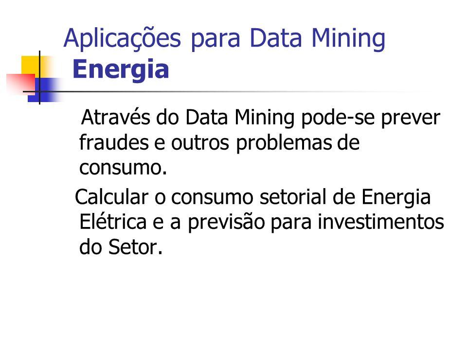 Aplicações para Data Mining Energia