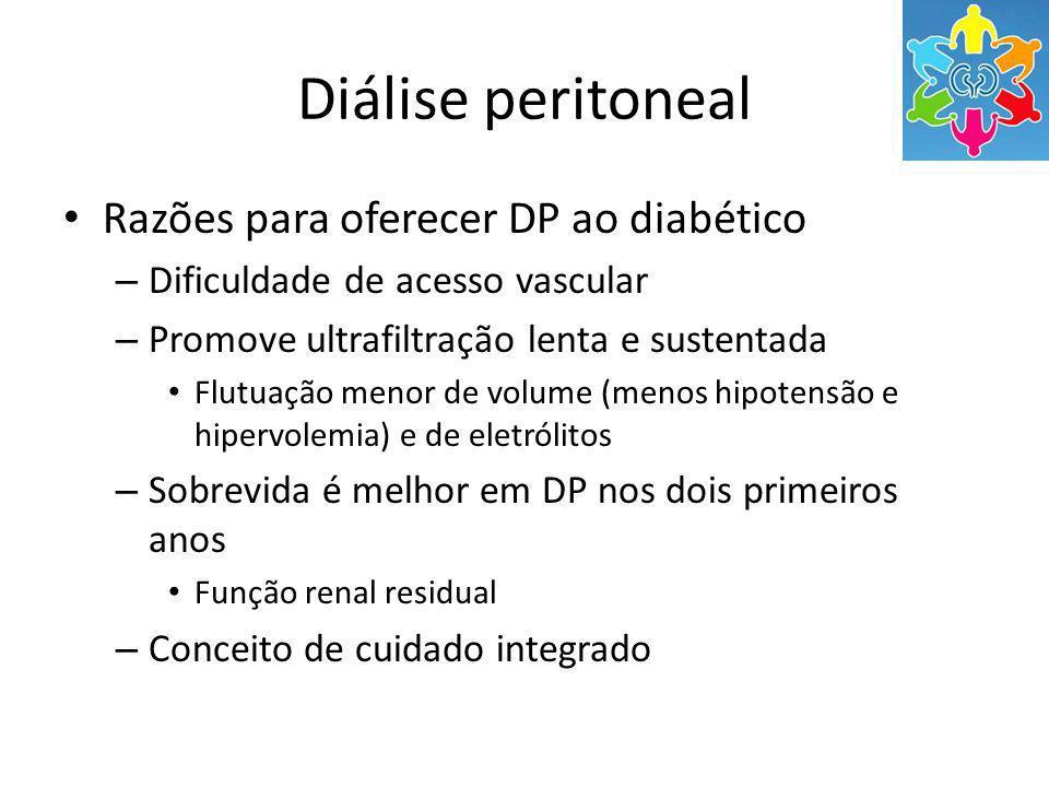 Diálise peritoneal Razões para oferecer DP ao diabético