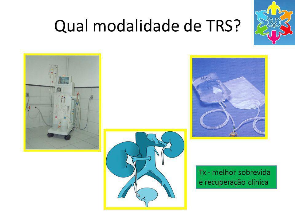 Qual modalidade de TRS Tx - melhor sobrevida e recuperação clínica