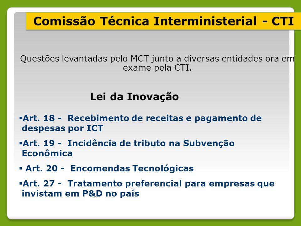 Comissão Técnica Interministerial - CTI