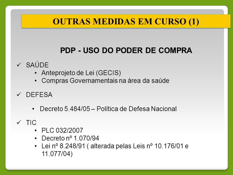OUTRAS MEDIDAS EM CURSO (1)