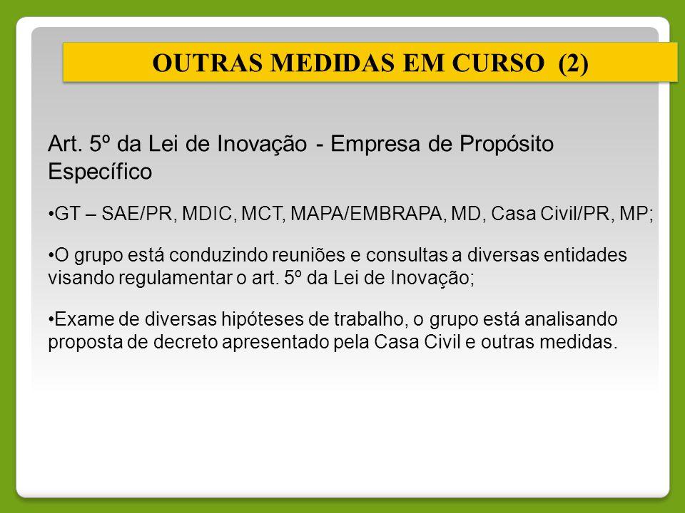 OUTRAS MEDIDAS EM CURSO (2)