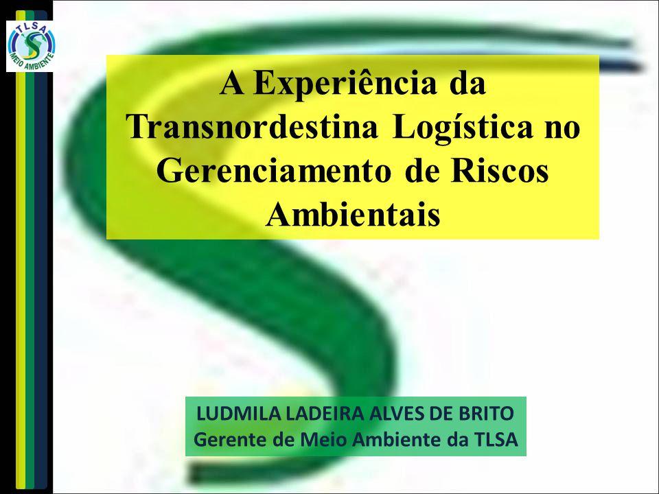 LUDMILA LADEIRA ALVES DE BRITO Gerente de Meio Ambiente da TLSA