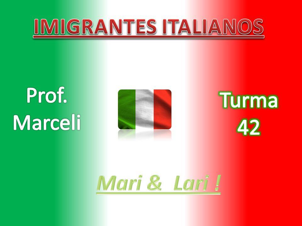 IMIGRANTES ITALIANOS Prof. Marceli Turma 42 Mari & Lari !