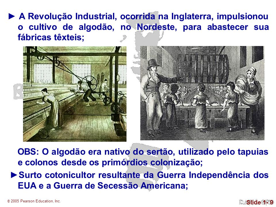 ►A cultura do algodão tornou-se um agricultura mercantil, voltada para o mercado externo; ►Desenvolvimento comercial do RN, tanto nas áreas secas, melhor para o cultivo, como em terras do litoral.