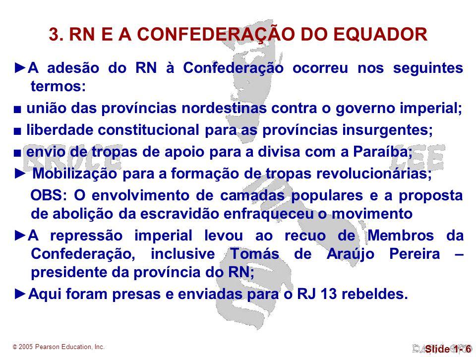 ►A repressão imperial levou ao recuo de Membros da Confederação, inclusive Tomás de Araújo Pereira – presidente da província do RN;