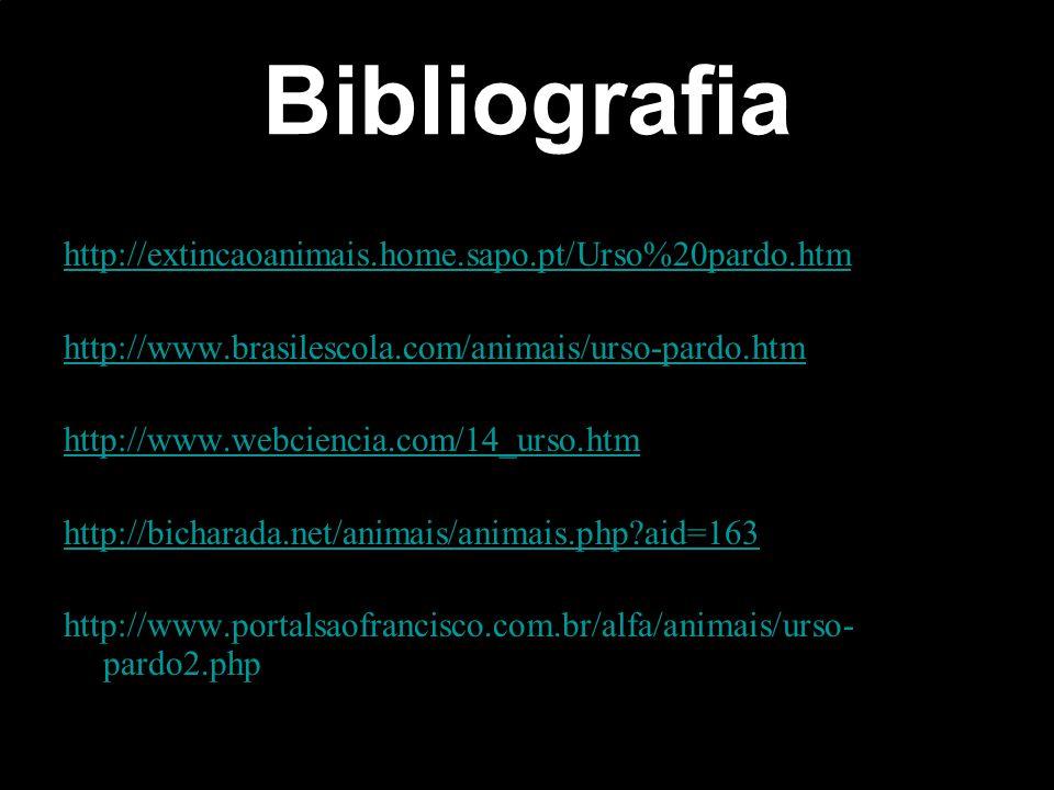 Bibliografia http://extincaoanimais.home.sapo.pt/Urso%20pardo.htm
