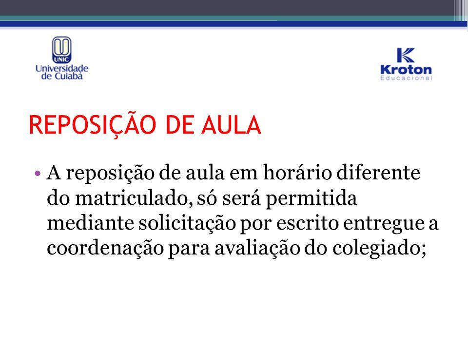 REPOSIÇÃO DE AULA
