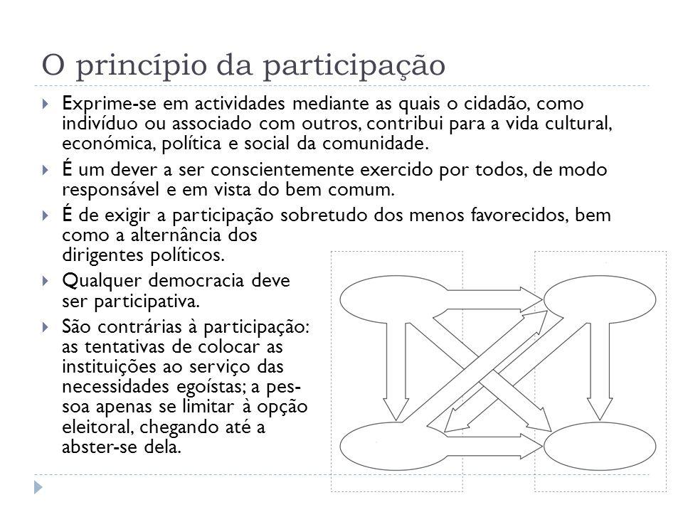 O princípio da participação