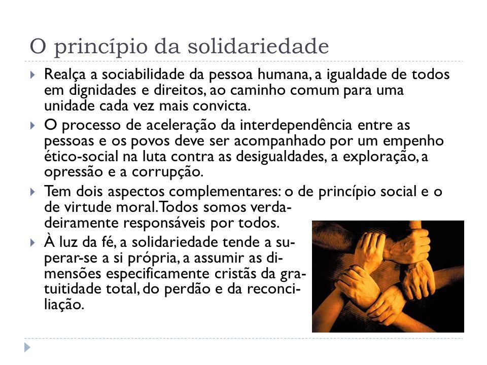 O princípio da solidariedade
