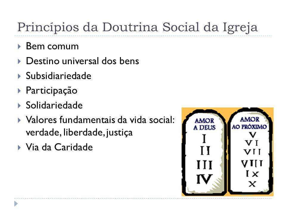 Princípios da Doutrina Social da Igreja